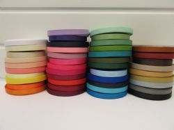 10mm Grosgrain Ribbon 2 metres or 20 metre roll double sided Ribbed UK